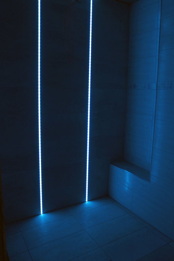 LED, fliesen dusche, einbau