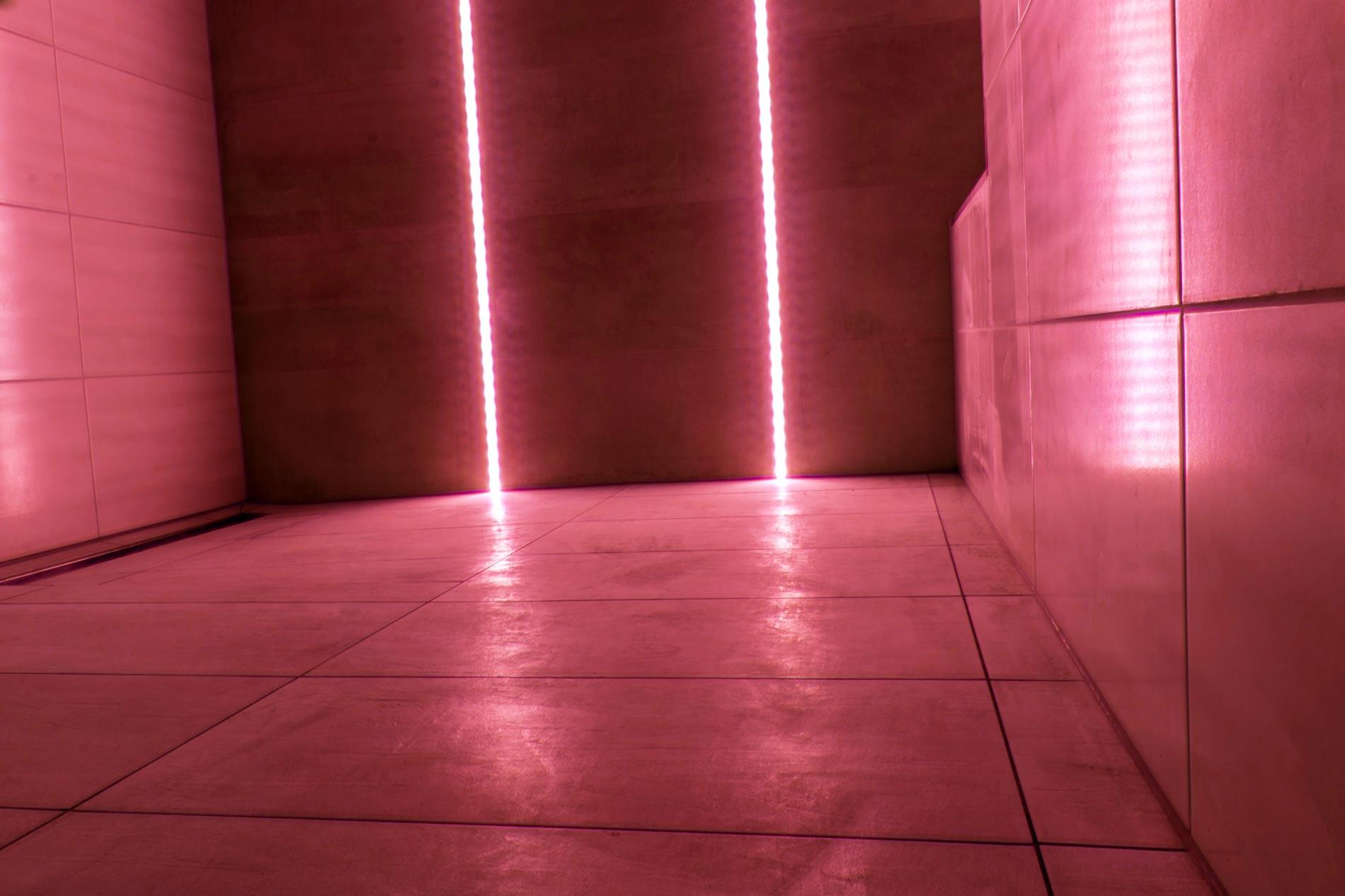 LED, fliesen dusche, einbau, rot, wechsel